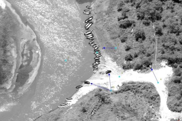 A operação contou com o apoio da aeronave RA-1 AMX