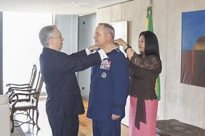 A cerimônia foi realizada na Embaixada do Brasil nos Estados Unidos