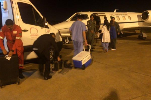 Coração foi captado em hospital de Canoas (RS) e transplantado em receptor na capital federal