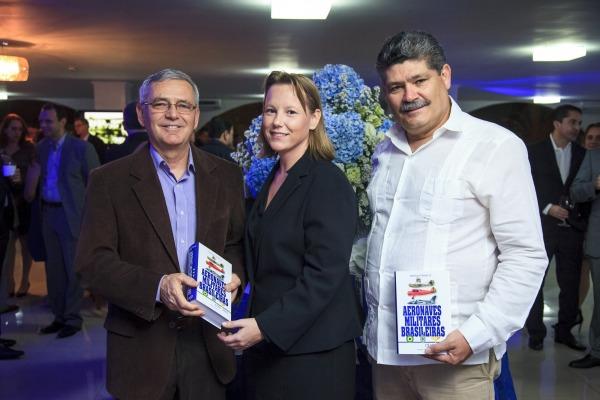 Tenente-Brigadeiro Rossato, Rafaela Teruszkin e Major-Brigadeiro Mesquita