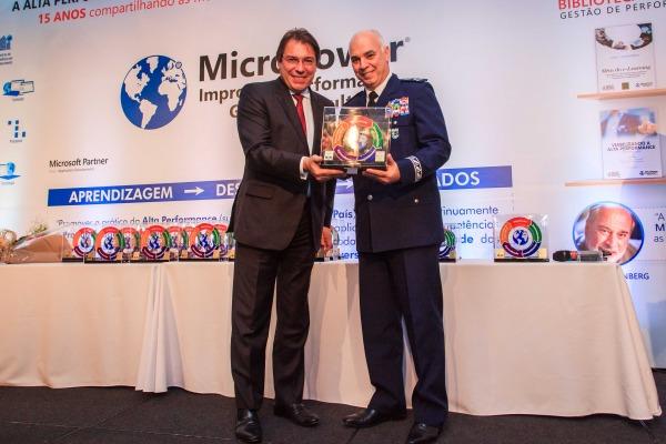 Major-Brigadeiro Damasceno foi patrono do Prêmio Learning & Performance, que teve o Instituto de Logística da Aeronáutica entre os vencedores
