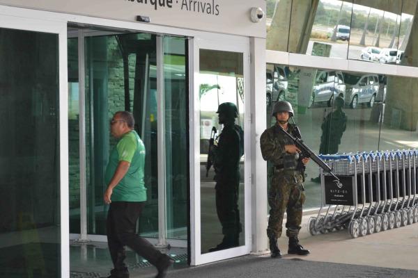 Aeronáutica é responsável pela segurança do Aeroporto Internacional Aluízio Alves, em São Gonçalo do Amarante