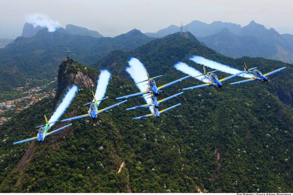 Maracanã, Copabacana, Parque Olímpico e Boulevard Olímpico serão palco de demonstrações aéreas dos pilotos da FAB