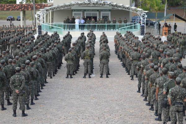 1200 militares das Forças Federais foram engajados na missão