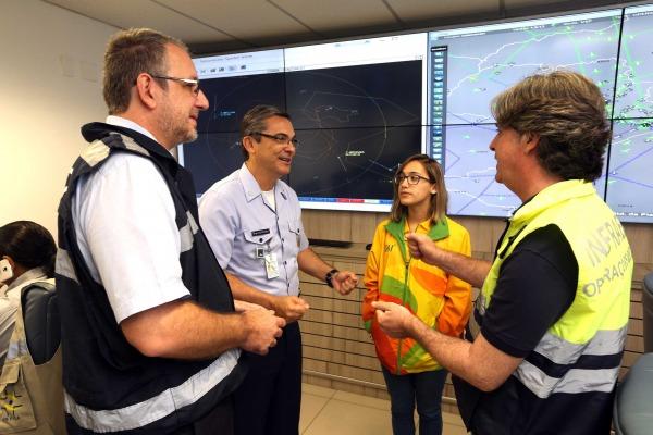 Monitoramento de aeronaves que circulam nas áreas de exclusão é feito a partir da Sala Master