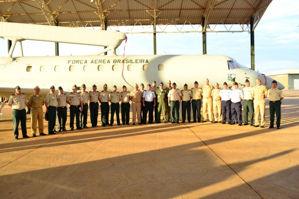 Militares da Colômbia também visitaram Esquadrão Guardião