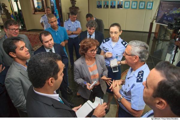 Tenente-Brigadeiro do Ar Nivaldo Luiz Rossato recebeu 21 repórteres nesta quinta-feira (22/09)