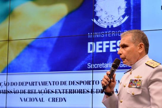 Diretor do Departamento de Desporto Militar, Almirante Paulo Zuccaro