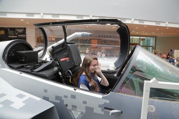 Os visitantes tiveram a oportunidade de conhecer o trabalho da instituição e as formas de ingresso na Aeronáutica