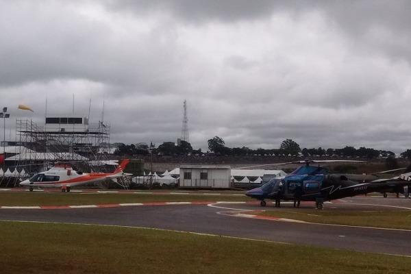 Estrutura montada pela FAB em Interlagos permitiu operação aérea com mais segurança