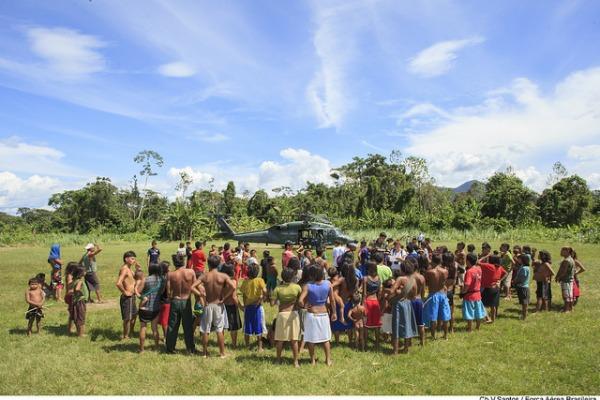 Em 2015, FAB deu apoio com helicóptero Black Hawk
