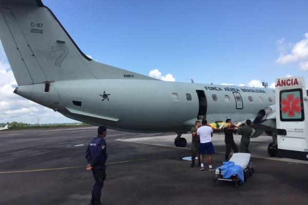 Eles foram levados de Tabatinga para Manaus, onde foram encaminhados para hospitais da cidade
