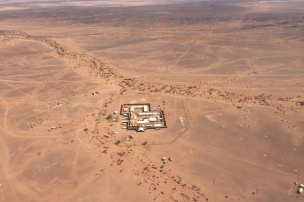 Base de Tifariti, uma das nove da missão da ONU para referendo no Saara