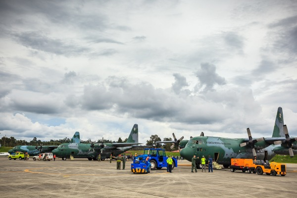 Três Hércules fizeram o traslado da Colômbia para Manaus
