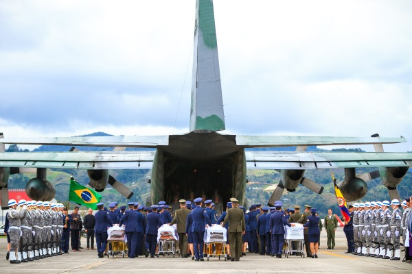 Cerimônia na Base Aérea de Rionegro, na Colômbia
