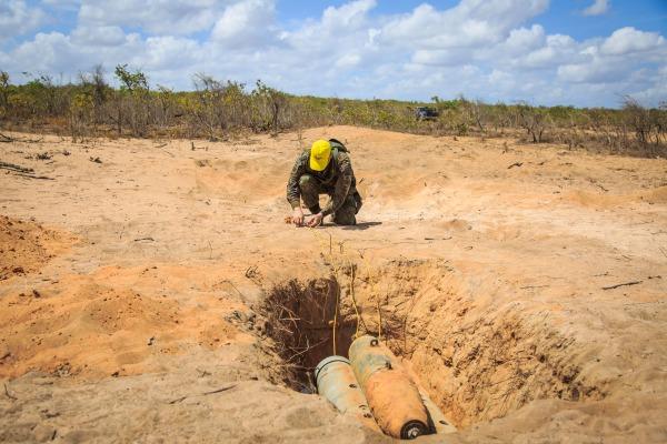 Atividade fez parte do curso de neutralização e destruição de artefatos explosivos, que formou 11 novos especialistas