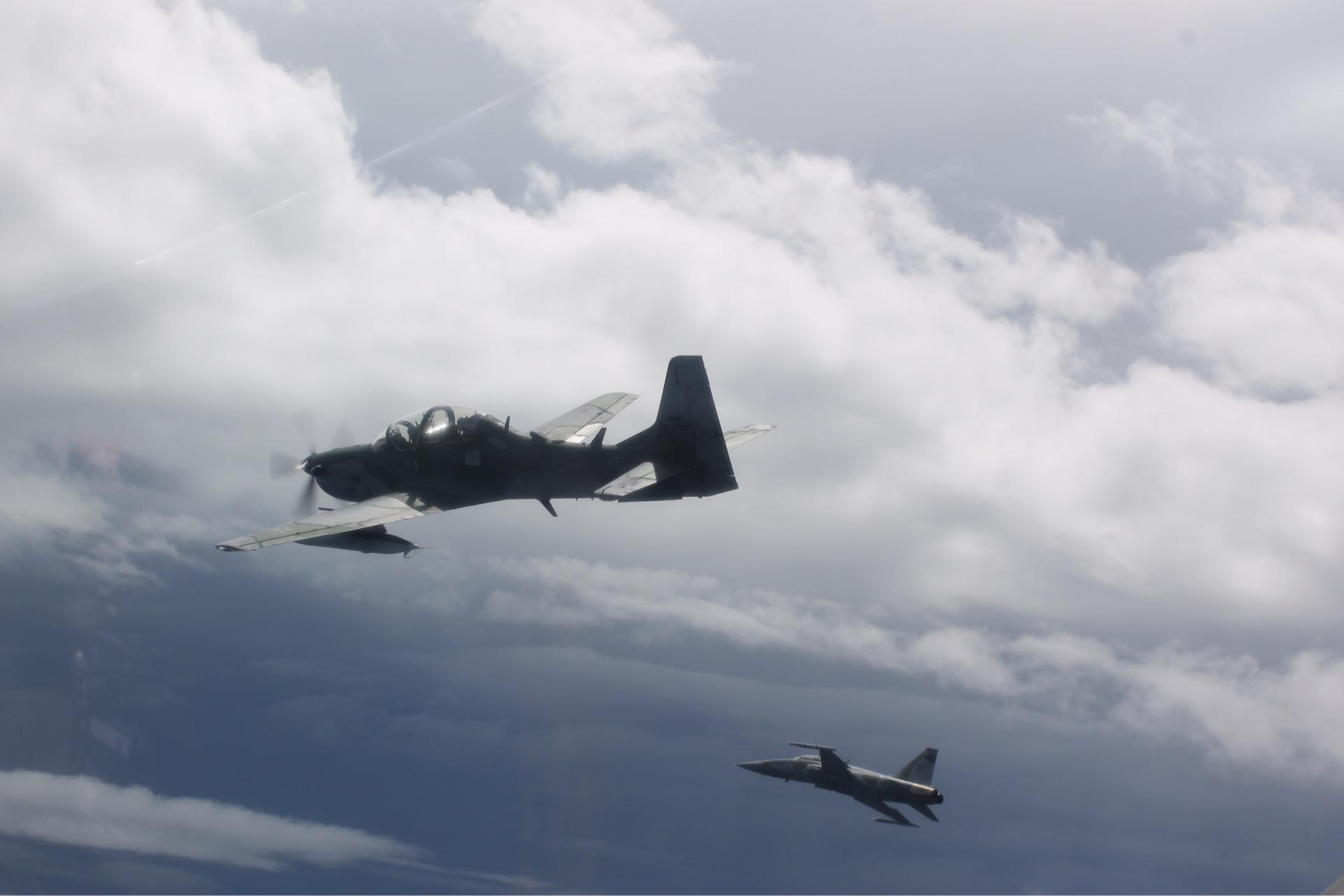No total, participaram do treinamento três aeronaves dos esquadrões