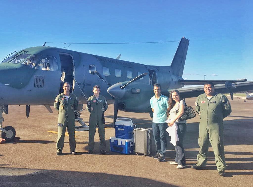 Aeronave da FAB transporta órgãos na noite de Natal