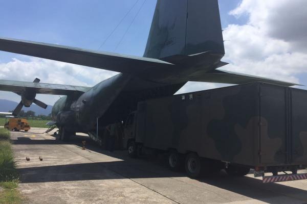 Cerca de 22 toneladas de materiais vão dar suporte a militares da GLO