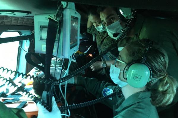 H-36 funcionou como UTI aérea no atendimento do paciente