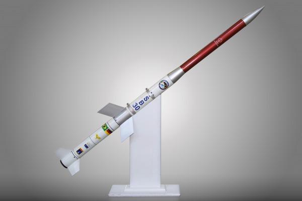 Maquete em tamanho reduzido do veículo suborbital VSB-30