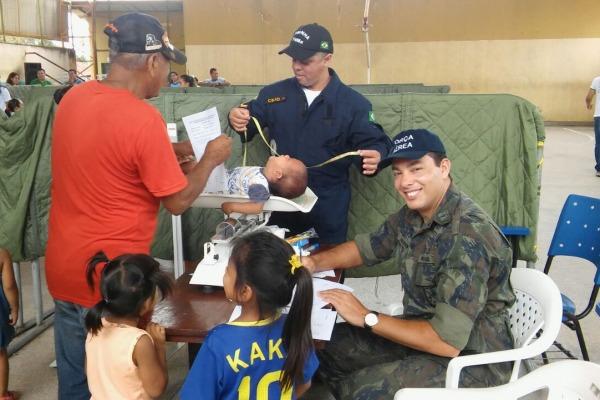 Militares do Hospital de Aeronáutica de Manaus realizaram os atendimentos em conjunto com integrantes de outras Forças