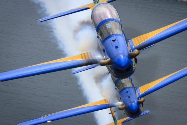 Demonstração faz parte da programação do International Brazil Air Show