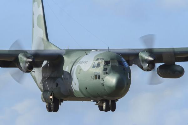 Aeronave C-130 também é utilizada em missões de busca e salvamento
