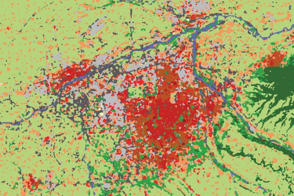 Imagem classificada sobre a cidade chinesa