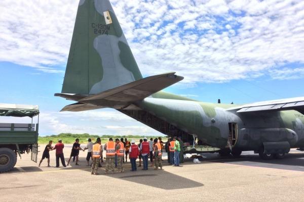 Foram 22 dias de missão em que duas aeronaves C-130 Hércules se revezaram na ajuda às vítimas