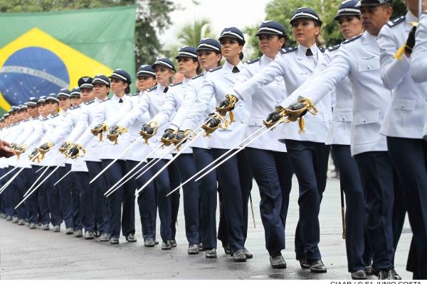 Desfile em continência à Bandeira