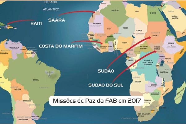 Mais de 180 militares da FAB já atuaram em cinco missões de paz espalhadas pelo mundo
