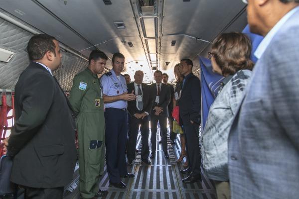 Visita institucional foi coordenada pela Assessoria Parlamentar e de Relações Institucionais do Comandante da Aeronáutica