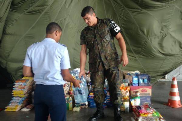 Doações podem ser feitas na unidade da Força Aérea, em Recife