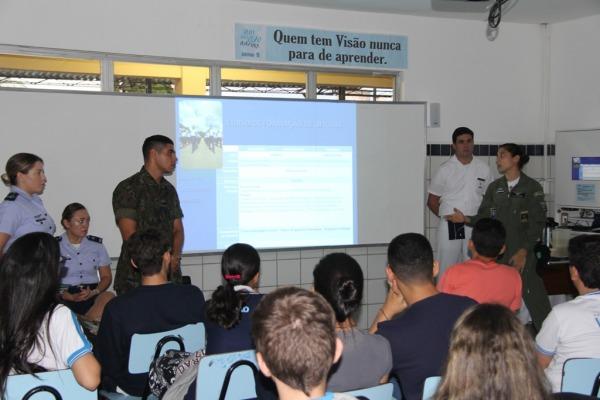 Profissionais de diversas áreas esclareceram os estudantes sobre a carreira na FAB