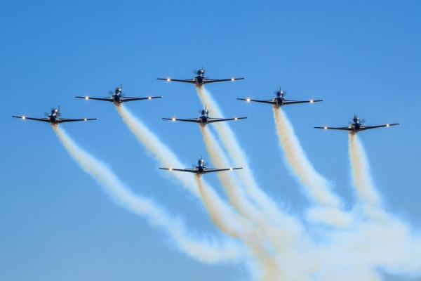 Força Aérea Brasileira marca presença em festa promovida pela Fundação Astronauta Marcos