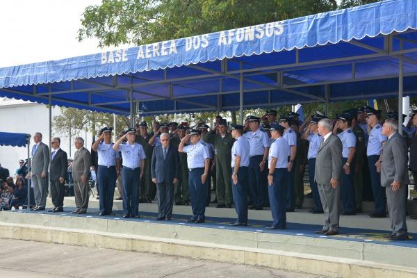 A cerimônia foi presidida pelo Tenente-Brigadeiro do Ar Gerson Nogueira Machado de Oliveira