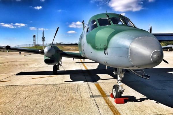 Aeronave C-95 Bandeirante foi empregada no transporte de órgãos