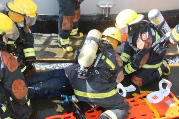 A atividade contou com parte do efetivo do Corpo de Bombeiros de São Paulo