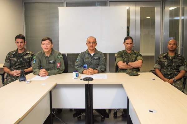 Major-Brigadeiro Mangrich participou da primeira videoconferência realizada via SGDC