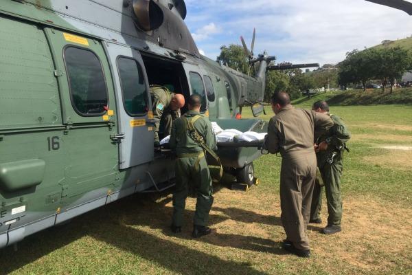 Ala 12 e HFAG prestaram socorro ao paciente no Rio de Janeiro