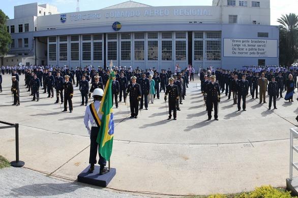 Cerimônia no III COMAR, no Rio de Janeiro (RJ)