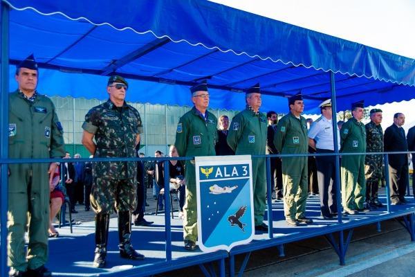 A cerimônia foi presidida pelo Tenente-Brigadeiro Rossato