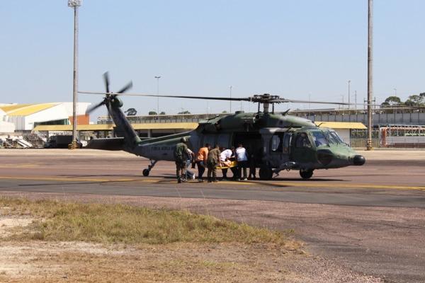 Esquadrão Harpia foi um dos responsáveis pelo transporte de feridos