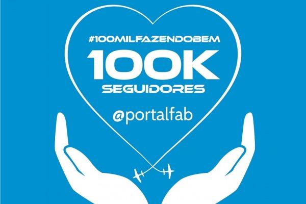 Cem mil tripulantes estão a bordo do perfil da FAB no Twitter e campanha é destaque do novo marco