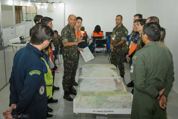 Exercício é realizado pelo Ministério de Defesa com a participação de várias instituições