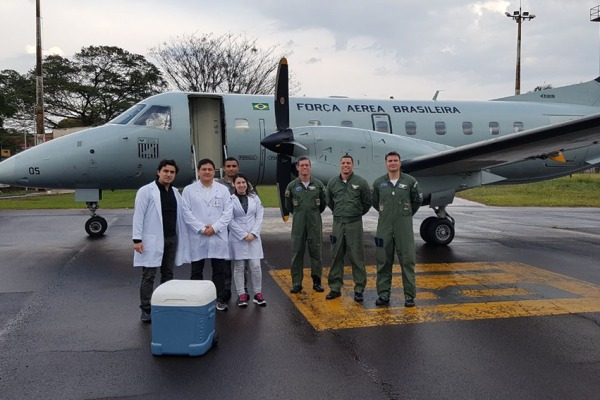 Somente este ano, o Esquadrão transportou 50 órgãos em mais de 160 horas de voo