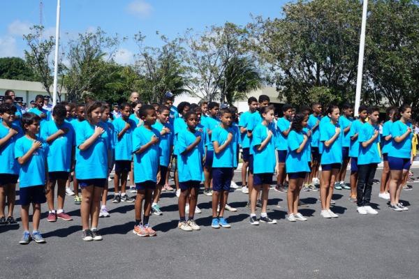 Crianças do PROFESP de Recife na cerimônia