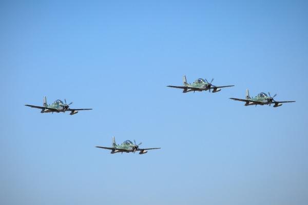 Desfile das aeronaves A-29 Super Tucano