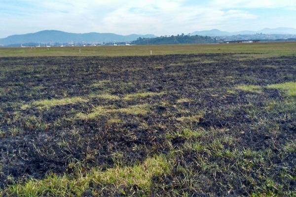 Somente este ano ocorreram seis incêndios provocados por quedas de balão na região